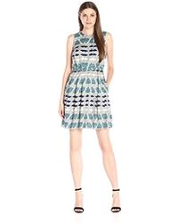 Donna Morgan - Elastic-waist Wide-pleat Dress - Lyst