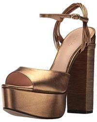 ae31bb1ed769df Lyst - Rachel Zoe Willow Platform Heel in Metallic