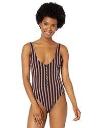 865f3eb7e08 Trina Turk Tokyo Halterneck Onepiece Swimsuit in Black - Lyst