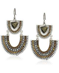 Lucky Brand - S Pave Statement Earrings - Lyst