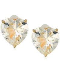 T Tahari - Uptown Jewels Btgd Cry Heart Stud Clip-on Earrings, Color Gold, One Size - Lyst