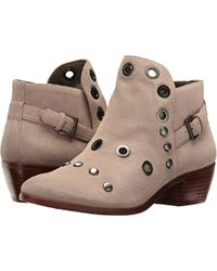 0474e898326b7d Lyst - Sam Edelman Pedra Embellished Suede Ankle Boots in Natural