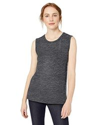 ef134fb94e9a81 Lyst - Madewell Modern Linen Muscle Tee in Black