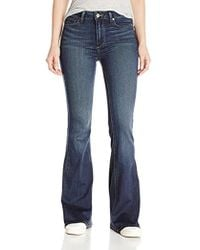 PAIGE - Petite Size High Rise Bell Canyon Jeans-nottingham - Lyst