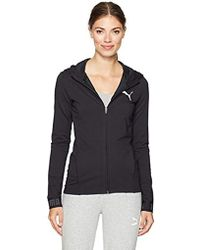 0a569c9e46f6 Lyst - PUMA Training Urban Sports Women s Full Zip Hoodie in Black