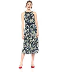 5735f519ef2 Tommy Hilfiger Coin Toss Chiffon Long Dresses in Black - Save 3% - Lyst