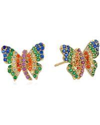 Noir Jewelry - Butterfly Stud Earrings - Lyst