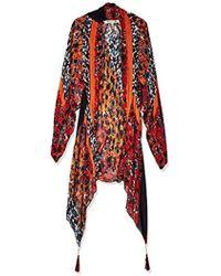 Michael Stars - S Floral Tasseled Kimono - Lyst