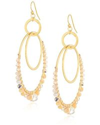 Chan Luu - S Natural Mix Hoop Earrings, One Size - Lyst