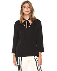 Theory - 3/4 Sleeve Relaxed Wrap Vneck Top - Lyst