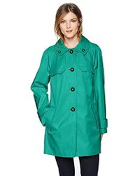 London Fog - Double Shoulder Flap Rain Coat - Lyst