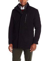 London Fog - Wool Car Coat With Bib - Lyst