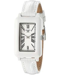 Kenneth Jay Lane - Kjlane-0910s-bset Moderne White Rectangular Watch With Interchangeable Bands - Lyst