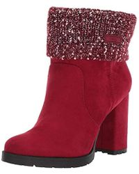 48cd6b12a090c7 Lyst - Circus by Sam Edelman Carter Bootie in Red - Save ...