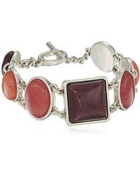 Lucky Brand - Berry Stone Link Bracelet, Silver, One Size - Lyst