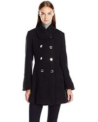 Jessica Simpson - Bell Sleeve Basketweave Wool Coat - Lyst