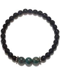 Satya Jewelry - Amethyst And Sodalite Gold Stretch Bracelet - Lyst
