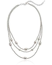 Napier - Silver-tone Multi Row Frontal Necklace - Lyst