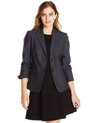 Jones New York - Washable Wool-blend Button-front Jacket - Lyst