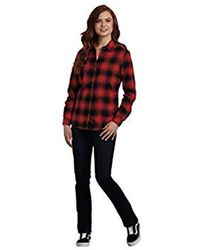 d3b36191ae82b Lyst - Dickies Plus-size Long Sleeve Plaid Flannel Shirt in Blue ...