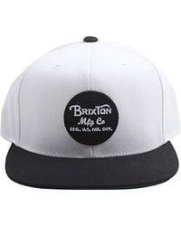 c8dc4a182f1 Lyst - Brixton Wheeler Medium Profile Adjustable Mesh Hat in Green ...