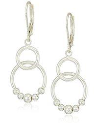 Nine West - Silver-tone Dbl Drop Earrings - Lyst
