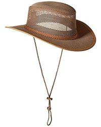 66d89a9585a Lyst - Stetson Herringbone Bandera Flat Cap in Brown for Men