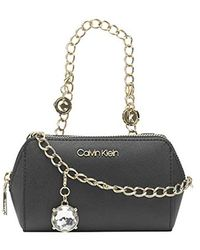 Calvin Klein Marybelle Saffiano Belt Bag Waist Pack - Black