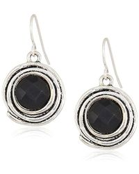 The Sak - Color Orbit Black/silver Drop Earrings - Lyst