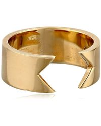 Campbell - Filled Knuckle Invert Ring - Lyst