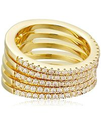 Noir Jewelry - Audley Gold Stackable Ring, Size 7 - Lyst