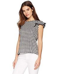 55ce9e9581344d Michael Stars - Gingham Gauze Front-to-back Blouse - Lyst