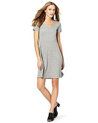 Daily Ritual - Pima Cotton And Modal Short-sleeve Scoop Neck Dress - Lyst