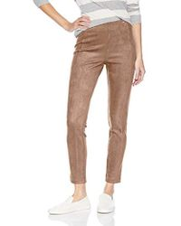 Ivanka Trump - Pull-on Suede Compression Pants - Lyst