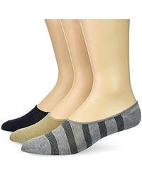 39cec76b9e Lyst - Perry Ellis Portfolio 5 Pack Placed Stripe Casual Dress Socks ...