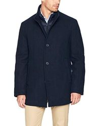 Marc New York - Linden Superior Wool Car Coat With Removable Quilted Bib - Lyst