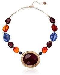 "The Sak - S Bead Stone Collar Necklace 16"" - Lyst"