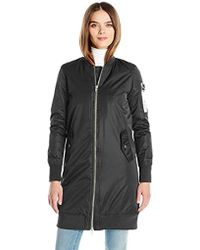 Members Only - Chrissy Lightweight Coat With Drawstring Hood - Lyst