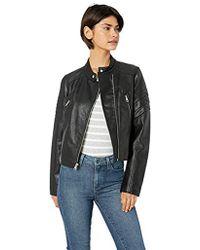 Levi's - Faux Leather Fashion Racer Jacket - Lyst