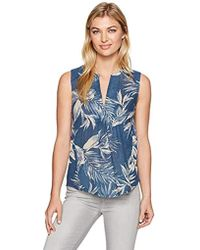 Lucky Brand - Printed Gauze Mixed Top - Lyst