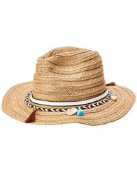 6cf05d80b13 Lyst - Henri Bendel Beach Cabana Wide Brim Hat in Natural