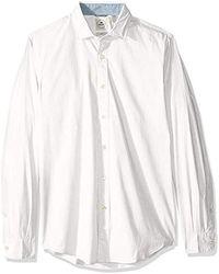 b8b2a592a9a Dockers - Long Sleeve Slim Refined Poplin Button Front Woven Shirt - Lyst