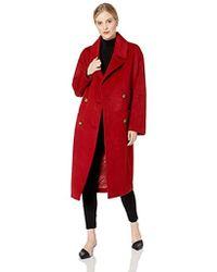 Badgley Mischka - Double-breasted Wool-blend Coat - Lyst