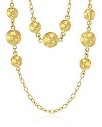 Gurhan - Lentil 24k Long Cluster Station Chain Necklace - Lyst