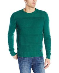 Dickies - Solid Texture-stripe Crew-neck Sweater - Lyst