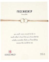 Dogeared - Friendship Double-linked Adjustable Closure Bracelet - Lyst