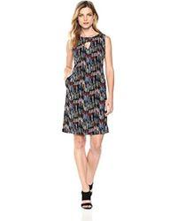 Nine West - Shift Dress With Side Panels & Front Pockets - Lyst