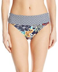 Ellen Tracy - Hawaiian Punch Floral Banded Midster Bikini Bottom - Lyst