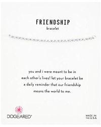 Dogeared - S Ss Lav Friendship Bracelet, Silver, 9 - Lyst