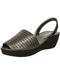 Kenneth Cole Reaction - Fine Stripe Platform Sandal Wedge - Lyst